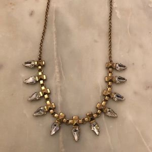 JCrew diamond and gold necklace